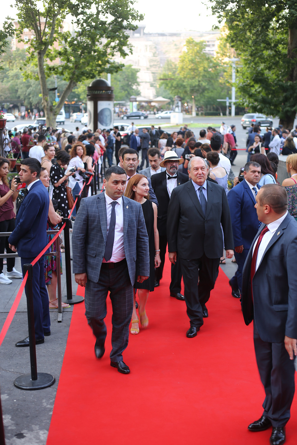 RA President Armen Sargsyan and Minister of Culture Lilit Makunts