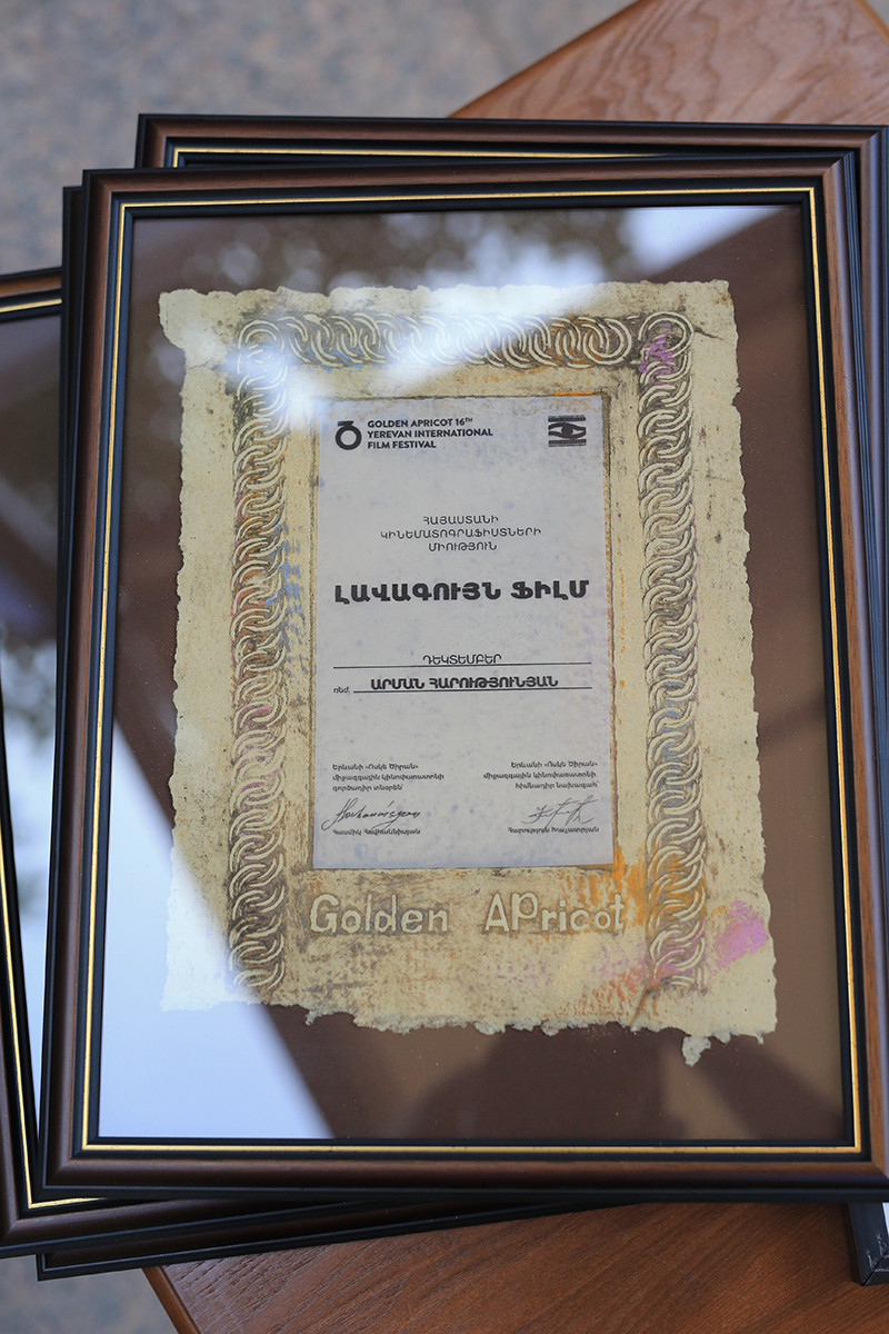Armenian Cinematographers union prize