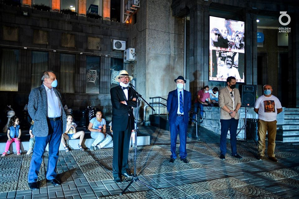 The opening ceremony of Hrant Matevosyan's and Aghasi Ayvazyan's stars