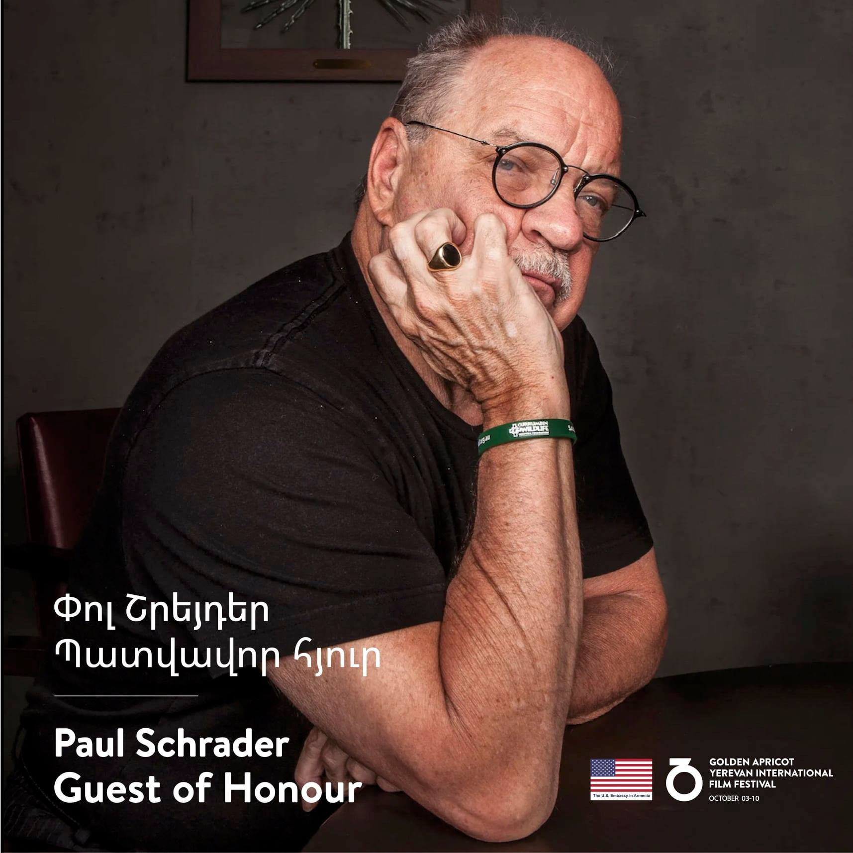 The honorable guest of the Festival -  Paul Schrader